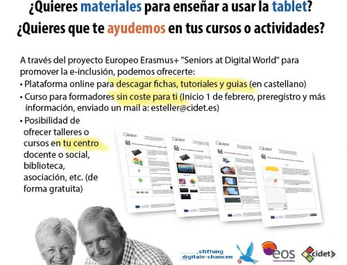 Curso on-line; Tablets para personas mayores